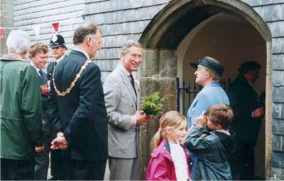 Prince Charles visits Stuart House